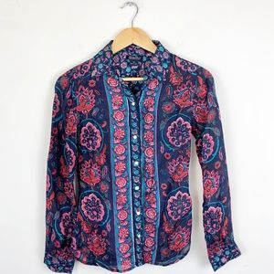 Lucky Brand 100% Silk Blouse